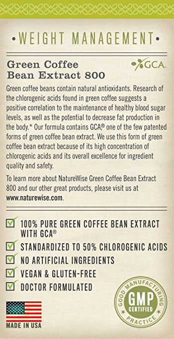 Side View of Naturewise Green Coffee Bean Extract