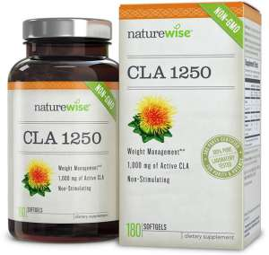 NatureWise CLA 1250 High Potency Natural Weight Loss Supplement